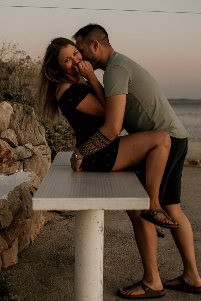lovely couple at the sea in croatia